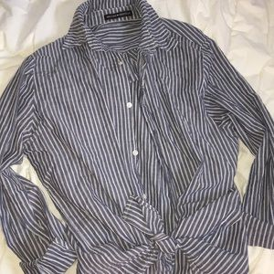 BRANDY MELVILLE Striped Button Up